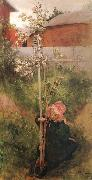 Carl Larsson Apple Blossoms oil painting reproduction
