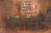Carl Larsson Homework painting