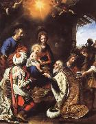 Carlo  Dolci The Adoration of the Kings oil on canvas