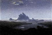 Caspar David Friedrich Rocky Reef on the Sea Shore oil painting reproduction