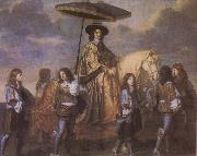 Charles le Brun Chancellor Seguier at the Entry of Louis XIV into Paris in 1660 oil on canvas