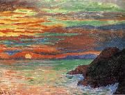 Diego Rivera SunSet oil painting reproduction