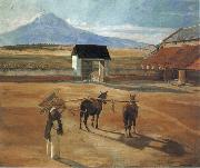 Diego Rivera Threshing Floor oil