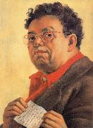 Diego Rivera Self-Portrait oil