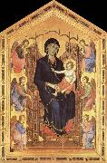 Duccio di Buoninsegna Her Madona and the Nino Entronizados,con six angelical painting