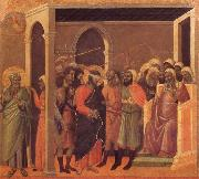 Duccio di Buoninsegna The third verloochening of Christ oil painting reproduction