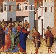 Duccio Jesus Opens the Eyes of a Man Born Blind oil on canvas