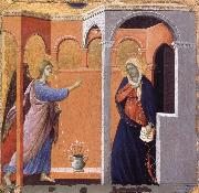 Duccio The Annunciation oil on canvas