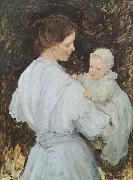 E.Phillips Fox Mother and child oil on canvas