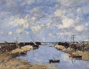 Eugene Boudin The Entrance to Trouville Harbour oil painting reproduction