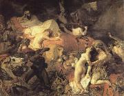 Eugene Delacroix Eugene Delacroix De kill of Sardanapalus oil painting reproduction