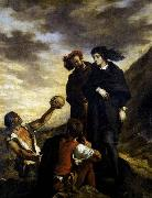 Eugene Delacroix Hamlet and Horatio in the Graveyard painting