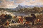 Ferdinand Victor Eugene Delacroix Ovid among the Scythians painting