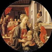 Fra Filippo Lippi Madonna and Child oil painting reproduction