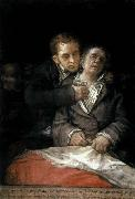 Francisco de goya y Lucientes Self-Portrait with Doctor Arrieta oil painting reproduction
