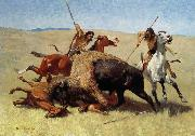Frederic Remington The Buffalo Hunt china oil painting artist