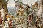 GHIRLANDAIO, Domenico Detail of Baptism of Christ oil painting reproduction