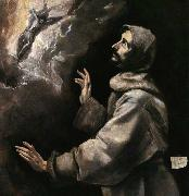 GRECO, El St Francis Receiving the Stigmata oil painting reproduction