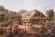 Gabriel Lory fils House of peasants in the vicinity of Bern painting