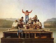 George Caleb Bingham Die frohlichen Bootsleute oil on canvas