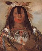 George Catlin Buffalo Bull-s Back Fat Oberhauptling des Blutstammes oil on canvas