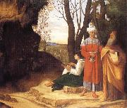 Giorgione Three ways oil painting