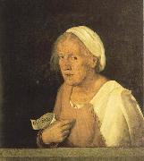 Giorgione Old Woman painting