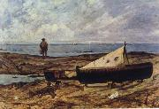 Giovanni Fattori On the Beach painting