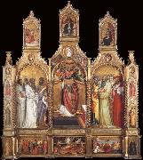 Giovanni dal ponte Polyptych of the Ascension of Saint John the Evangelist oil painting reproduction