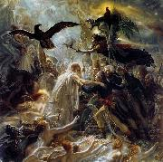 Girodet-Trioson, Anne-Louis Ossian Receiving the Ghosts of French Heroes oil on canvas