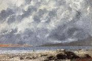 Gustave Courbet Beach Scene oil painting reproduction