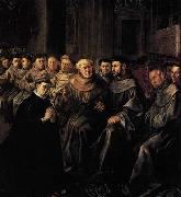 HERRERA, Francisco de, the Elder St Bonaventure Enters the Franciscan Order oil painting