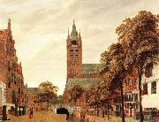 HEYDEN, Jan van der View of Delft oil painting reproduction