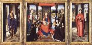 Hans Memling The Virgin and Child with Angels,Saints and Donors oil painting reproduction