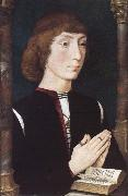 Hans Memling A Young Man at Prayer oil painting reproduction
