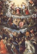 Hans Rottenhammer The Coronation of the Virgin oil painting reproduction