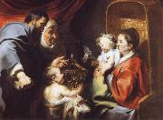 Jacob Jordaens The Virgin and Child with Saints Zacharias,Elizabeth and John the Baptist oil painting