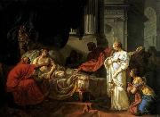 Jacques-Louis  David Antiochus and Stratonica oil on canvas
