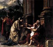 Jacques-Louis  David Belisarius Receiving Alms oil on canvas