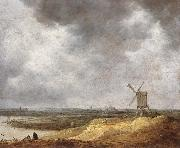 Jan van Goyen A Windmill by a River oil painting