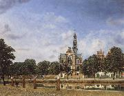Jan van der Heyden View of the Westerkerk,Amsterdam china oil painting artist