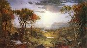 Jasper Cropsey Herbst am Hudson River painting