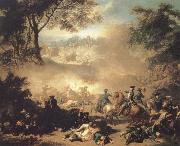 Jean Marc Nattier The Battle of Lesnaya oil painting reproduction
