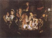 Joseph Wright An Experiment on a Bird in the Air Pump oil painting reproduction