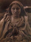 Julia Margaret Cameron Holy Agnes oil on canvas