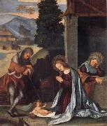 Lodovico Mazzolino The Nativity oil painting reproduction