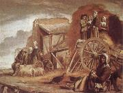 Louis Le Nain The Cart or Return from Haymaking oil painting reproduction