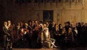 Louis Leopold  Boilly Meeting of Artists in Isabey-s Studio oil on canvas