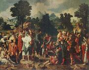 Lucas van Leyden THe Healing of the Blind man of Jericho oil on canvas