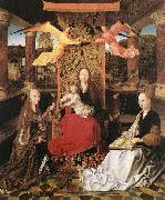 Master of Hoogstraeten Madonna and Child with Sts Catherine and Barbara oil on canvas